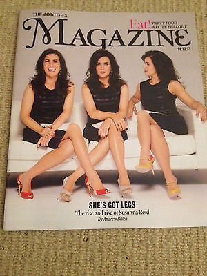 TIMES magazine Dec 2013 SUSANNA REID TOM JONES YASMIN LE BON KATE MOSS JOE GREEN