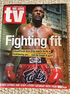 IDRIS ELBA PHOTO COVER UK WE LOVE TV MAGAZINE 01/2017 Danny Miller