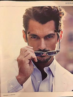 David Gandy Male Model Photo Interview  UK Magazine June 2017