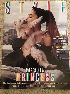 Dangerous Woman ARIANA GRANDE Photo Cover interview UK STYLE MAGAZINE May 2016
