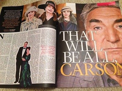 (UK) EVENT MAGAZINE SEPT 2015 JIM CARTER DOWNTON ABBEY BRYAN ADAMS TOM HARDY
