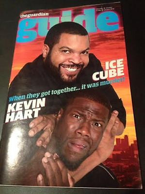 Ride Along 2 ICE CUBE & KEVIN HART PHOTO COVER INTERVIEW GUIDE MAGAZINE JAN 2016