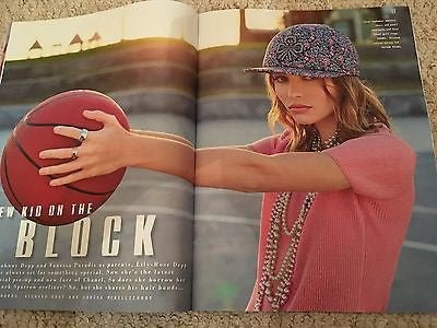 Lily-Rose Depp (Johnny) Photo Cover Interview Style UK magazine December  2016