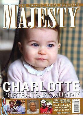 (UK) MAJESTY Magazine  ROYAL BABY PRINCESS CHARLOTTE PORTRAITS BY KATE MIDDLETON