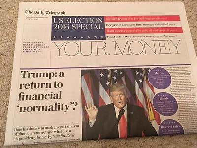 DONALD TRUMP - A RETURN TO FINANCIAL NORMALITY - DAILY TELEGRAPH - 12 NOV 2016