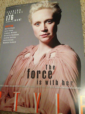 NEW STYLE MAGAZINE SEPTEMBER 2015 GWENDOLINE CHRISTIE PHOTO COVER