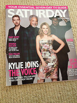 NEW Saturday Magazine Kylie Minogue Will.i.am Tom Jones Ricky Wilson THE VOICE