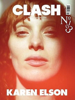 KAREN ELSON PHOTO COVER INTERVIEW UK CLASH MAGAZINE ISSUE 103 NEW