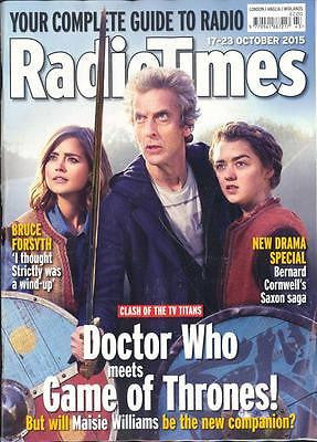 Radio Times Magazine October 2015 PETER CAPALDI DOCTOR WHO MAISIE WILLIAMS