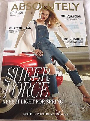 NATALIA VODIANOVA PHOTO COVER ABSOLUTELY LONDON MAGAZINE MARCH 2016