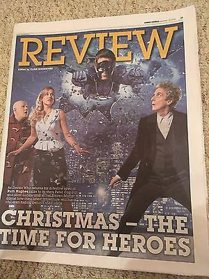 Doctor Who PETER CAPALDI Matt Lucas PHOTO UK COVER EXPRESS REVIEW December 2016