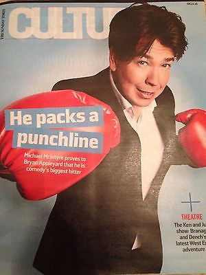 UK) CULTURE MAGAZINE NOVEMBER 2015 MICHAEL MCINTYRE KENNETH BRANAGH BEN WHISHAW
