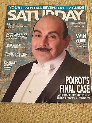 NEW Saturday Magazine David Suchet Kimberley Walsh Bill Treacher Sophie Raworth