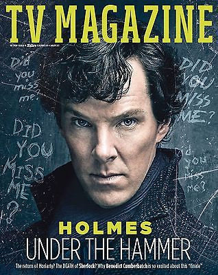 TV Magazine 01/2017 BENEDICT CUMBERBATCH Sherlock Series 4 UK Photo Interview