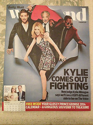 NEW Weekend Magazine Kylie Minogue Will.i.am Tom Jones Ricky Wilson THE VOICE