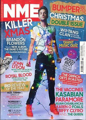 NME MAGAZINE DECEMBER 2014 BRANDON FLOWERS THE KILLERS PHOTO INTERVIEW BONO U2