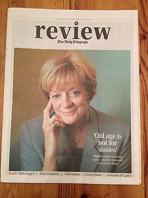 Downton Abbey MAGGIE SMITH UK TELEGRAPH REVIEW PHOTO COVER Nov 2014 MICK JAGGER