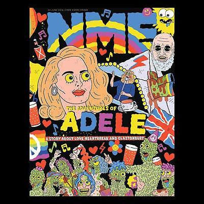UK NME MAGAZINE June 2016 ADELE Adam Lambert Bat For Lashes