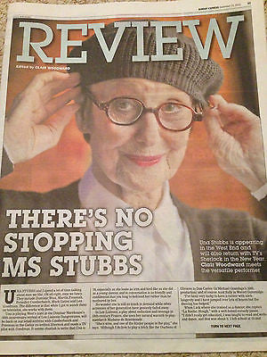 Sherlock UNA STUBBS Benedict Cumberbatch PHOTO INTERVIEW December 2015