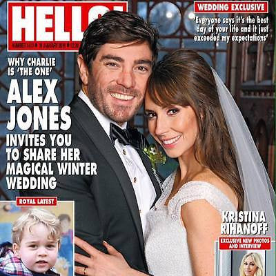 (UK) HELLO Magazine January 2016 ALEX JONES WEDDING PHOTOS PRINCE GEORGE NURSERY