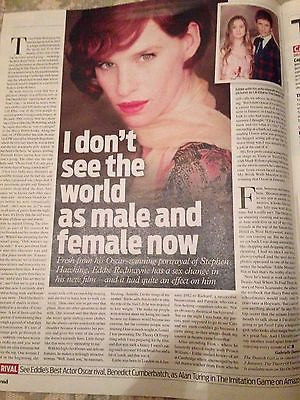Danish Girl EDDIE REDMAYNE PHOTO INTERVIEW 2015 KEVIN WHATELY PATRICIA ARQUETTE