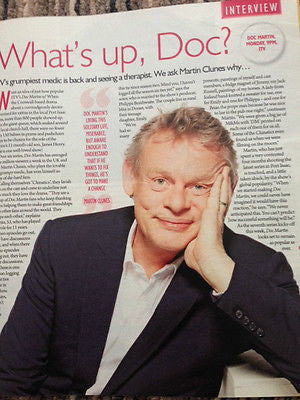 TESS DALY Martin Clunes Richard Madden Suzi Perry SATURDAY MAGAZINE Sept 2015