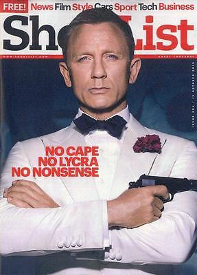 (UK) SHORTLIST MAGAZINE OCT 17 2015 DANIEL CRAIG JAMES BOND SPECTRE BEN WHISHAW