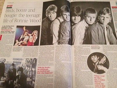 Rolling Stones RONNIE WOOD PHOTO INTERVIEW SEPT 2015 SALMAN RUSHDIE JAMES BOND