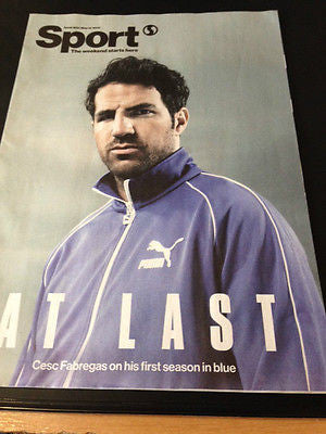 UK SPORT MAGAZINE - CESC FABREGAS - CHELSEA FC - MAY 19 2015