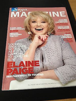 ELAINE PAIGE Photo Cover interview SAGA MAGAZINEJUNE 2014 BRAND NEW