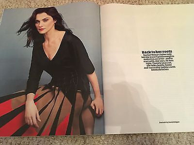 Guardian Weekend magazine June 10 2017 - Rachel Weisz on Daniel Craig