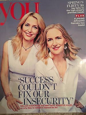 UK You Magazine February 26 2017 Gillian Anderson & Jennifer Nadel Cover