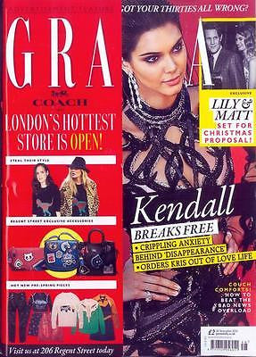 GRAZIA magazine 28 November 2016 Kendall Jenner - Breaks Free UK Cover