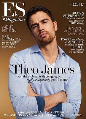 ES Magazine 10 March 2017 Theo James Hot! Photo Cover Interview - James Blunt