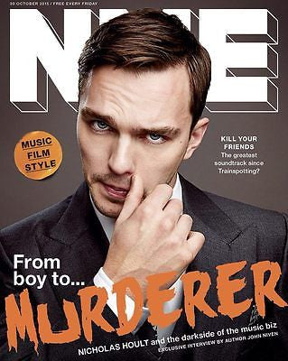 Kill Your Friends NICHOLAS HOULT Photo Cover interview UK NME MAGAZINE OCT 2015