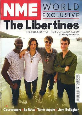 NME Magazine 20h June 2015 THE LIBERTINES CARL BARAT PETE DOHERTY LIAM GALLAGHER