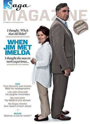 SAGA magazine 2011 IMELDA STAUNTON JIM CARTER GEORGE HARRISON JOHNNY MATHIS