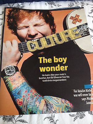ED SHEERAN PHOTO COVER CULTURE MAGAZINE SEPTEMBER 2014 RAY DAVIES CILLIAN MURPHY