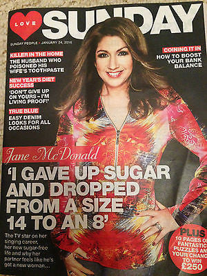 SUNDAY Magazine January 2016 JANE McDONALD PHOTO COVER INTERVIEW.