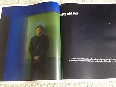 DAVID DUCHOVNY photo interview THE X-FILES UK 1 DAY ISSUE 2016 mark gatiss