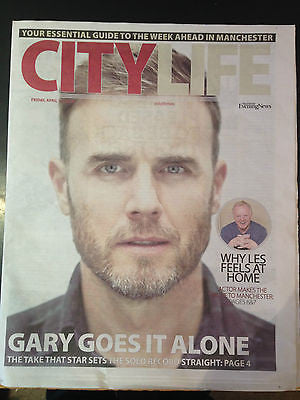 Take That GARY BARLOW City Life Cover interview Clippings Brand New