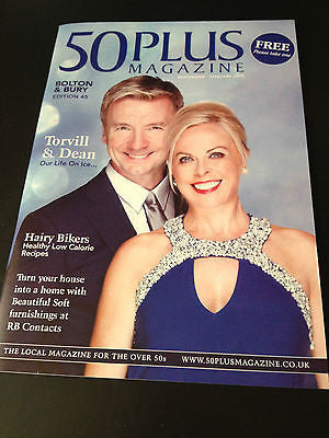 TORVILL & DEAN PHOTO COVER 50 PLUS MAGAZINE NOVEMBER 2014