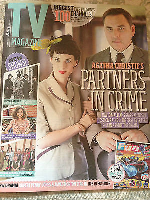TV MAGAZINE JUL 2015 JESSICA RAINE JEROME FLYNN RUPERT PENRY-JONES RIPPER STREET