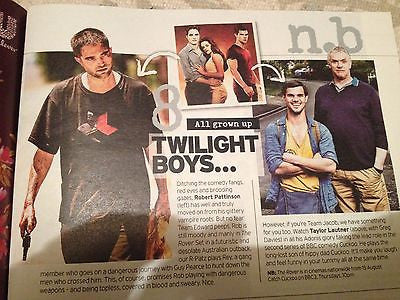 Notebook Magazine Aug 2014 Jamie Dornan Robert Pattinson Mark Owen Sarah Harding
