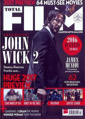 TOTAL FILM MAGAZINE FEBRUARY 2017 - John Wick 2 KEANU REEVES James McAvoy