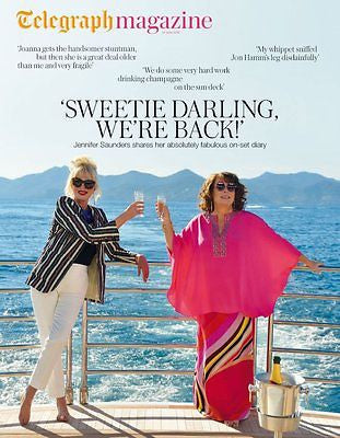 (UK) TELEGRAPH MAGAZINE JUNE 2016 Ab Fab Movie JENNIFER SAUNDERS JOANNA LUMLEY