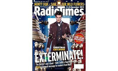 RADIO TIMES DOCTOR WHO CHRISTMAS EXCLUSIVE MAGAZINE 7 DECEMBER 2013 - MATT SMITH