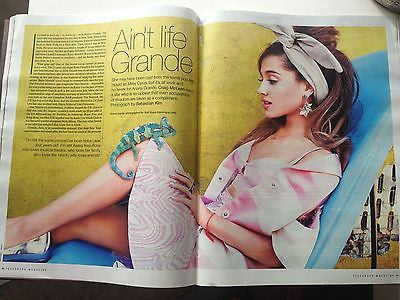 ARIANA GRANDE Photo Cover interview TELEGRAPH MAGAZINE 2014 TOMMY HILFIGER