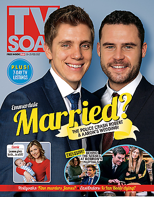 UK TV Soap Magazine February 2017 Danny Miller & Ryan Hawley - Robron Wedding