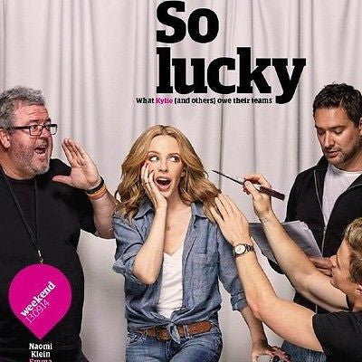 Kylie Minogue Kiss Me Once Photo Cover Guardian Weekend Magazine Sept 2014 NEW